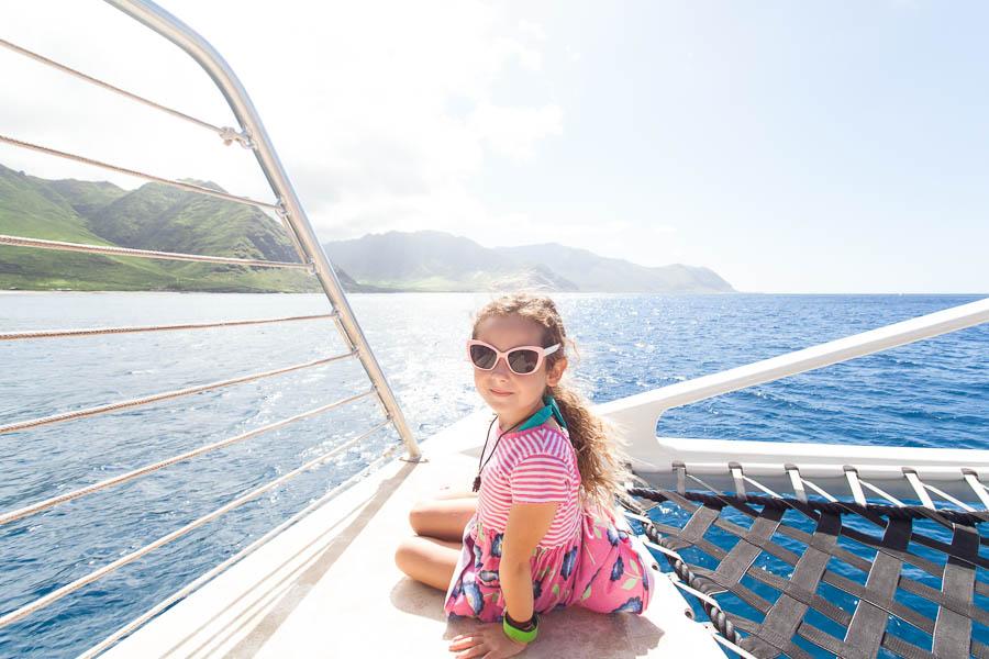 girl on boat, hawaii